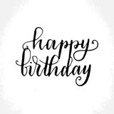 Hand lettering greeting card Royalty Free Stock Photo