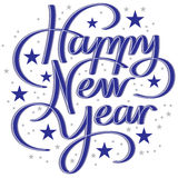Hand Lettering Happy New Year Royalty Free Stock Photos
