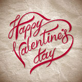Hand lettering happy valentines day� Stock Photography