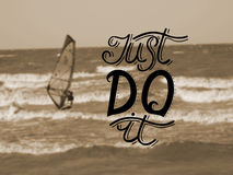 Hand lettering Just do it Royalty Free Stock Photos