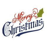 Hand lettering Merry Christmas message royalty free illustration