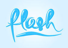 Hand lettering, modern text style, cursive logo.  Stock Photo