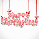 Hand lettering ornate Merry Christmas sign Royalty Free Stock Photography