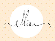 Hand lettering personal name, handmade calligraphy, Stock Photo