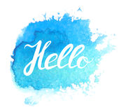 Hand lettering with phrase Hello Royalty Free Stock Photo