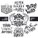 Hand lettering quotes set Royalty Free Stock Image