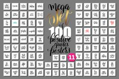 100 hand lettering quotes about shopping, autumn offer sale and. Mega set of 100 hand lettering quotes about shopping, autumn offer sale and halloween holiday Royalty Free Stock Images