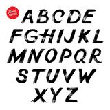 Hand lettering sketch font Stock Photography