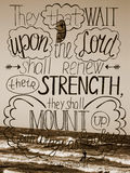 Hand lettering Trust in the Lord will renew their strength Stock Image