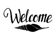 Hand lettering - Welcome to sea. Sketch. Vector Stock Photography