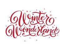 Hand Lettering Winter Wonderland. Royalty Free Stock Image