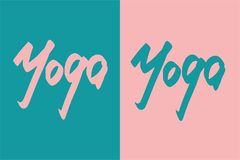 Hand lettering yoga Royalty Free Stock Photography