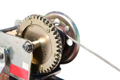 Hand lever winch close up Royalty Free Stock Image