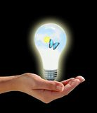 Hand lighbulb Royalty Free Stock Photo