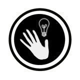 Hand and light Stock Photography