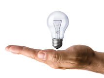 Hand and The Light Bulb royalty free stock photography