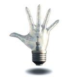 Hand light bulb Royalty Free Stock Photography