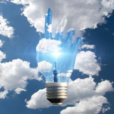 Hand Light Bulb Royalty Free Stock Photography