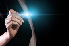 Hand with light Stock Photography