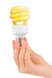 Hand with lighting lamp Stock Image