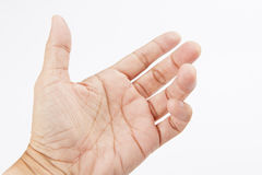 Hand like holding mobile phone Royalty Free Stock Image