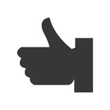Hand like social media icon Royalty Free Stock Photos