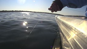 Hand Line Fishing 2 stock video footage