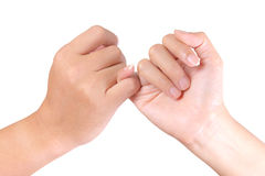 Hand linking finger Royalty Free Stock Images