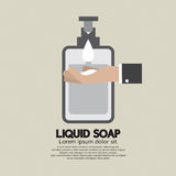 Hand With Liquid Soap. Royalty Free Stock Image