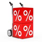 Hand-LKW-Verkaufswürfel Lizenzfreie Stockfotos