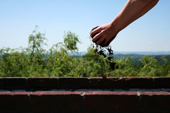 Hand with loam Royalty Free Stock Images