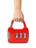 Hand with lock like a handbag Stock Image