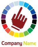 Hand logo Royalty Free Stock Image