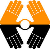 Hand logo Stock Image