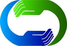 Hand logo royalty free illustration