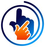 Hand logo Stock Photography
