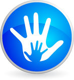 Hand logo. Illustration art of a hand logo with isolated background Royalty Free Stock Image