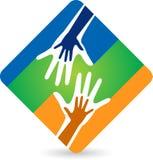 Hand logo Stock Photo