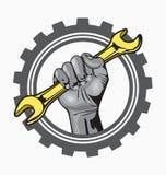 Hand logo. Vector illustration auto service logo Royalty Free Stock Photography