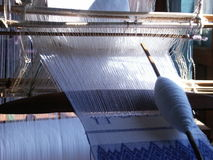 Hand loom. Detail of the hand loom on Inle lake in Burma Stock Photos