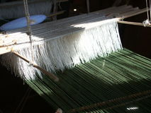 Hand loom. Detail of the hand loom on Inle lake in Burma Stock Image