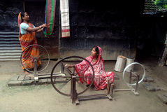 Hand loom industry in India Stock Photos