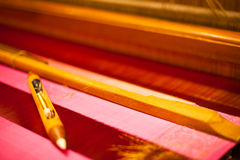 Hand Loom Shuttle Pink Textile Stock Images