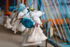 Hand loom Threads and Thread Bundles Stock Photography