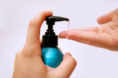 Hand lotion stock photography