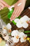 Hand lotion  Stock Photo