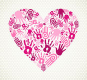 Hand love heart Royalty Free Stock Photo