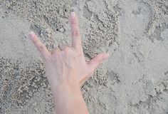 Hand in love Royalty Free Stock Image