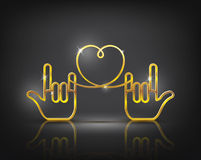 Hand Love vector Royalty Free Stock Photo
