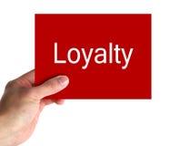 In Hand loyaliteitskaart Royalty-vrije Stock Afbeeldingen